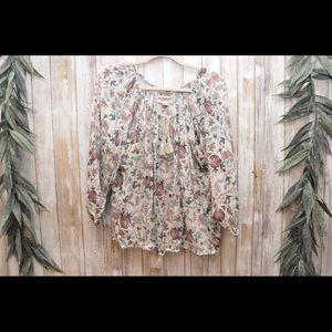 Denim Supply+BOHO Ralph Lauren Floral Blouse